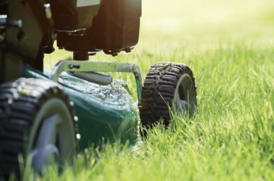 close up of mower