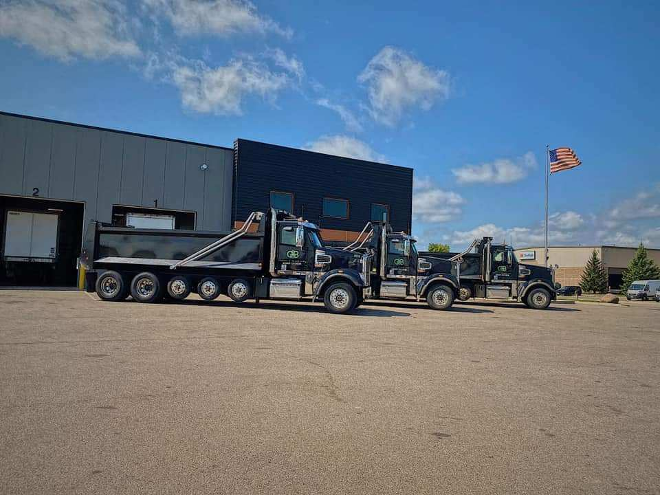 Trucks with flag