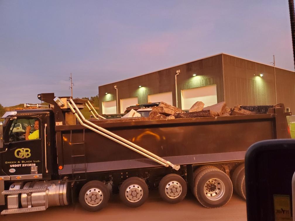 full hauling truck